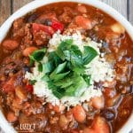 chili with pumpkin and beans