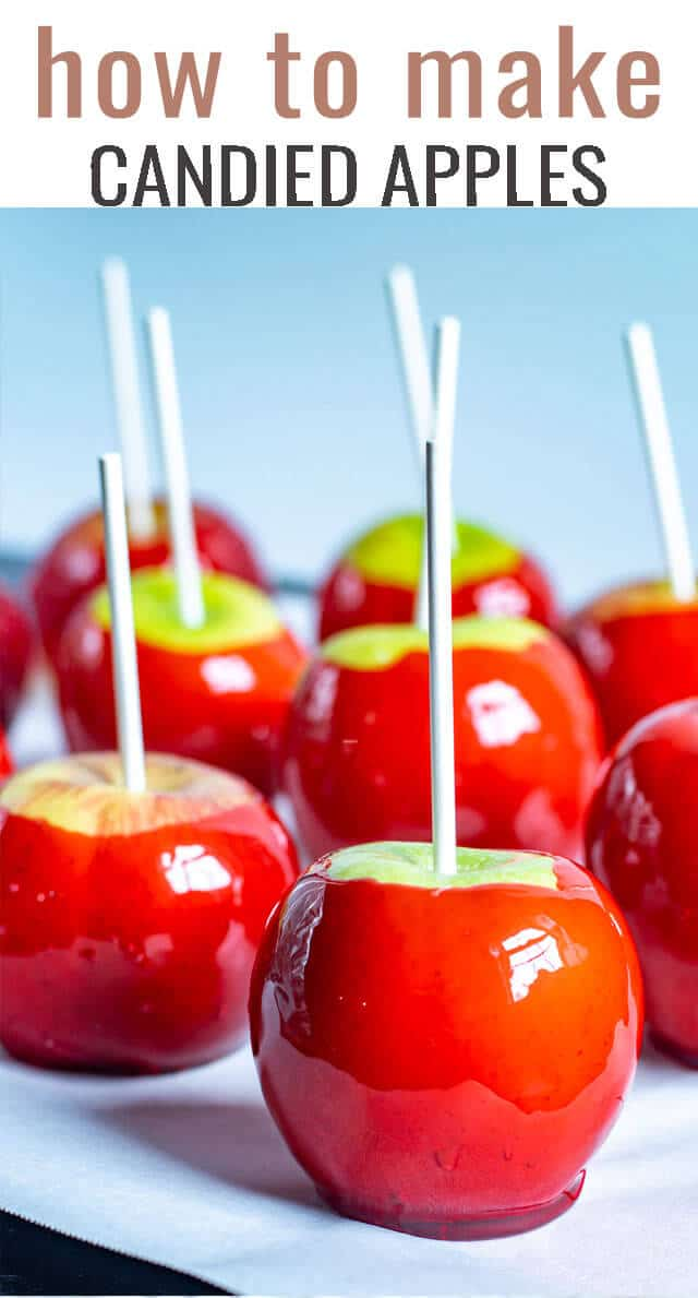 Nothing says delicious fun like a candy apples! This is your guide for how to make candy apples at home. Tips for success...every time. #candyapples #apples #candy #halloween via @tastesoflizzyt