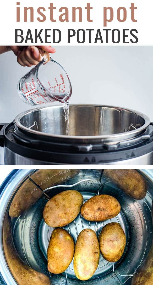 Looking for an easy way to make baked potatoes? Try Instant Pot Baked Potatoes! Soft, tender potatoes are ready in under 30 minutes. #instantpot #Potatoes #bakedpotato #ip via @tastesoflizzyt