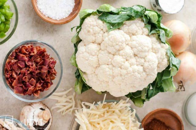 ingredients for cauliflower casserole