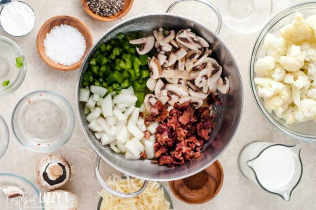 vegetables in a saucepan