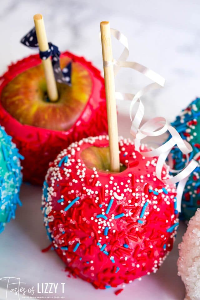 patriotic candied apples