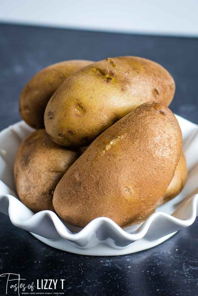 bowl of baked potatoes