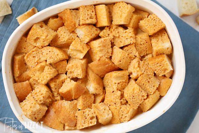 unbaked fresh toast casserole