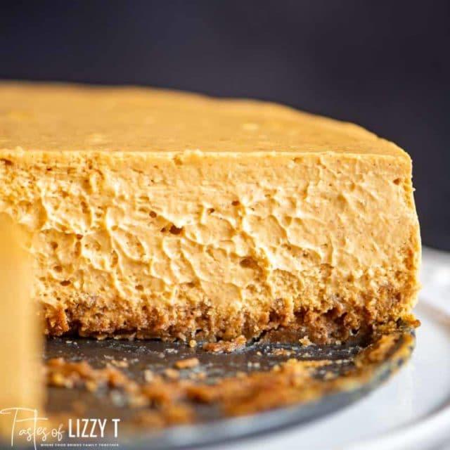 cut pumpkin cheesecake