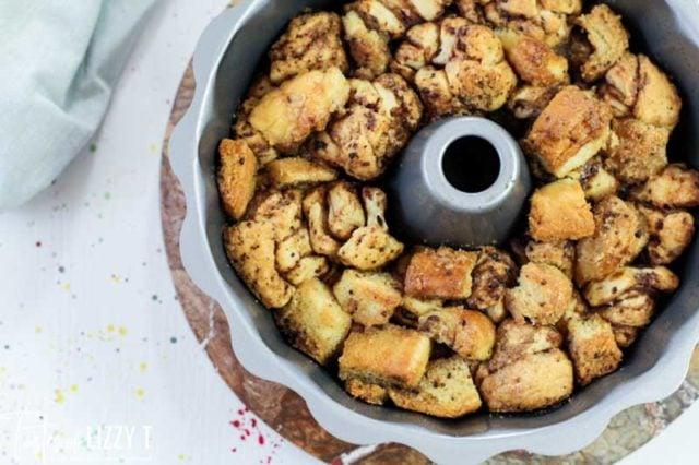 monkey bread in bundt cake pan