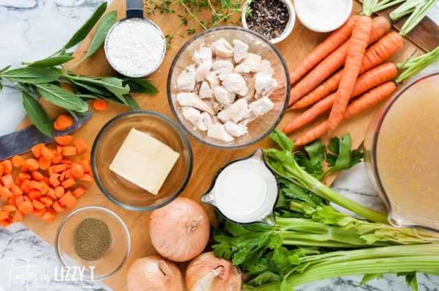 ingredients for turkey soup