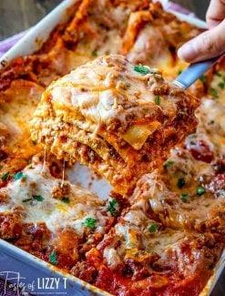 Easy Lasagna Recipe with no boil noodles