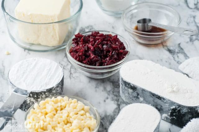 ingredients for shortbread cookies