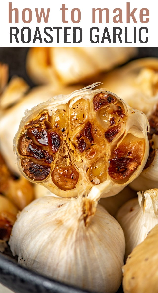 Wondering how to add depth of flavor to your potatoes, casseroles, pasta and breads? Learn how to roast garlic. It's easier than think! #garlic #roastedgarlic #italian via @tastesoflizzyt
