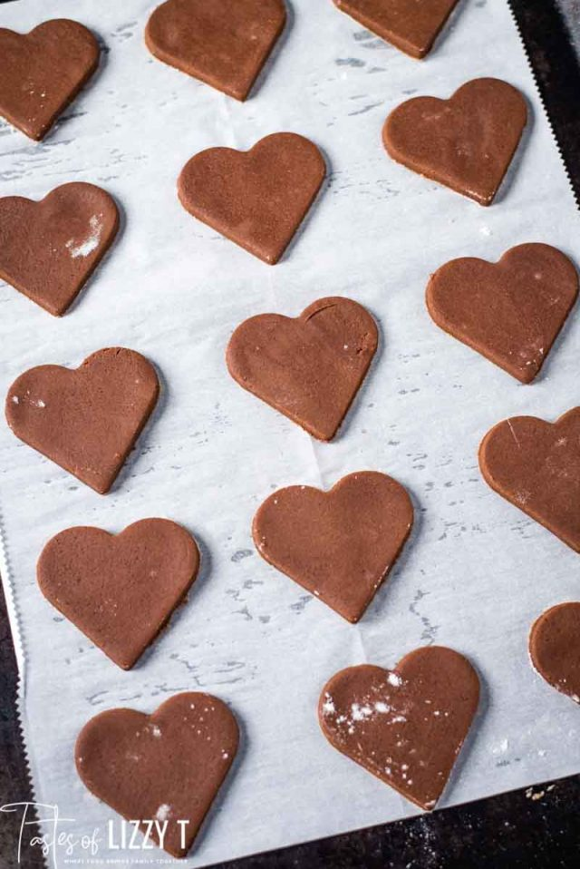 unbaked cookie hearts