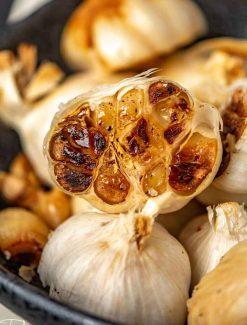 golden brown roasted garlic
