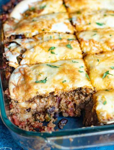Taco Lasagna casserole