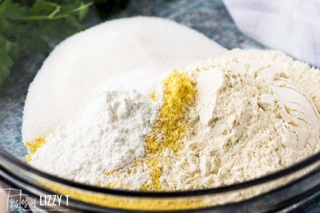 dry ingredients for cornbread muffins