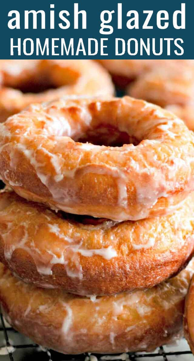 Fresh Amish glazed donuts, right from your own kitchen! Whip up a batch of these hot, soft, sweet yeast-raised donuts for your family to enjoy today. #donuts #breakfast #brunch via @tastesoflizzyt