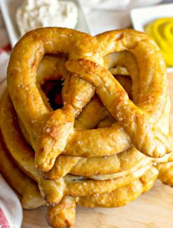 stack of 6 Amish Homemade Soft Pretzels