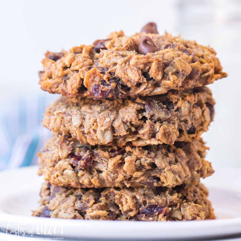 stack of 4 oatmeal breakfast cookies