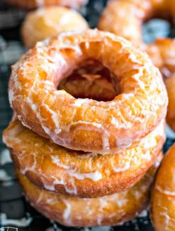 A close up of a doughnut