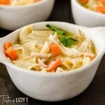 bowl of chicken and noodles