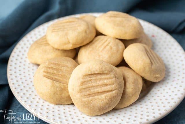 plate of brown sugar cookies