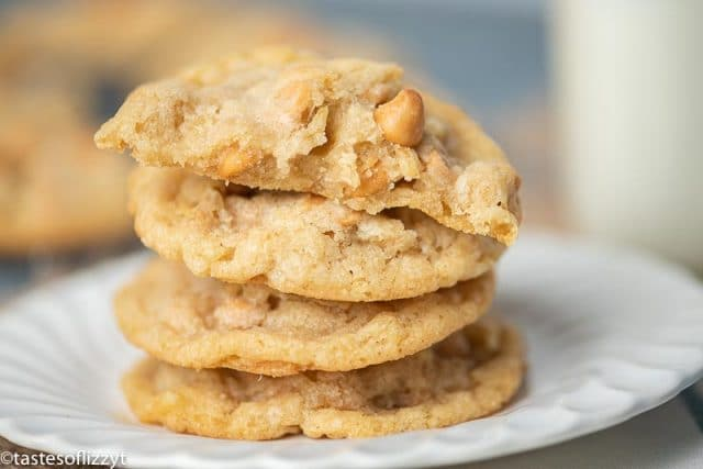 stack of potato chip cookies