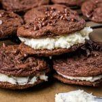 3 brownie cookie sandwiches