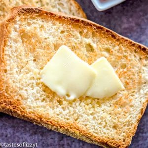 toasted bread with butter