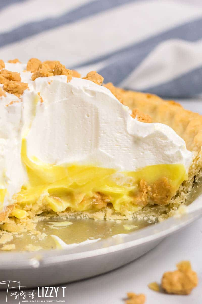 Peanut Butter Pudding Pie No Bake Dessert Tastes Of Lizzy T