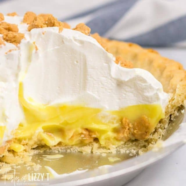 Peanut Butter Pudding Pie with Whipped Cream