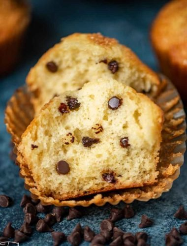 Amish Friendship muffins with mini chocolate chips