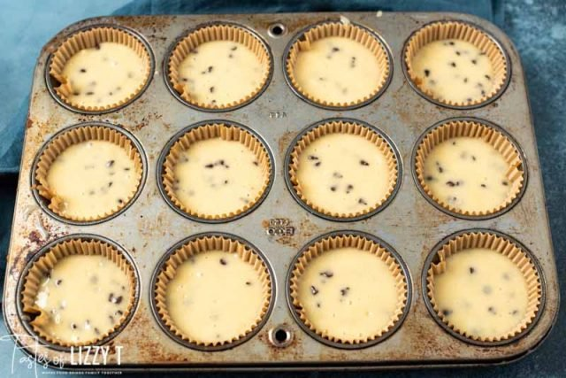 unbaked chocolate chip muffins