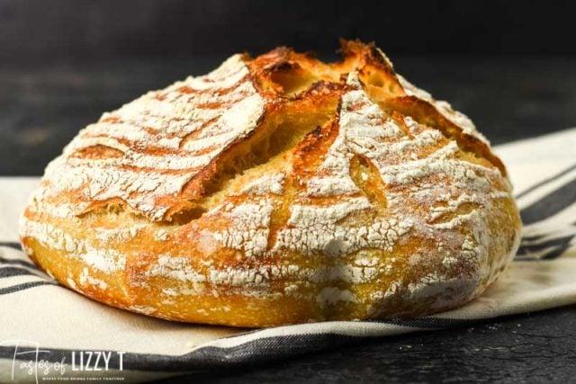 loaf of artisan sourdough bread