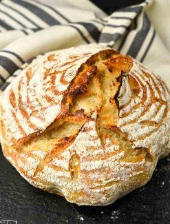 crusty sourdough bread loaf
