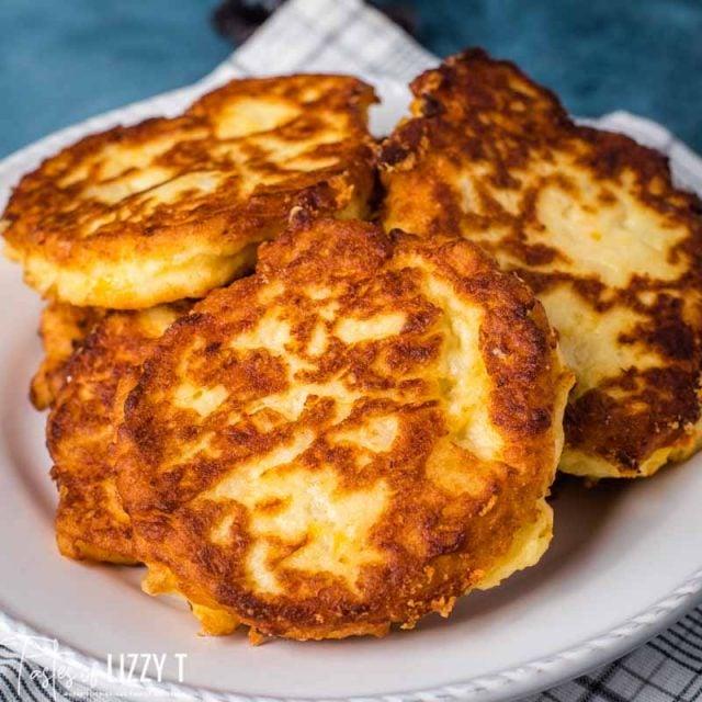golden brown fried potato pancakes