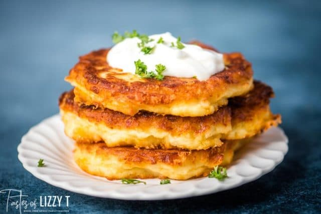 Old Fashioned Mashed Potato Cakes - Tastes of Lizzy T
