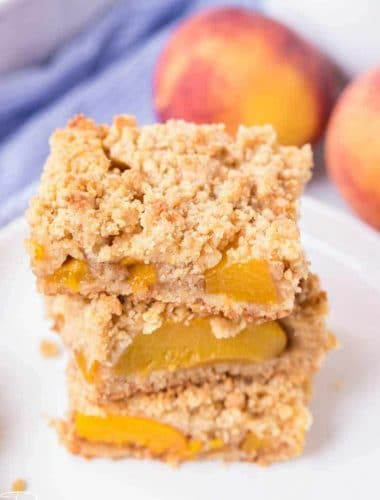 stack of 3 Peach Crumb Bars