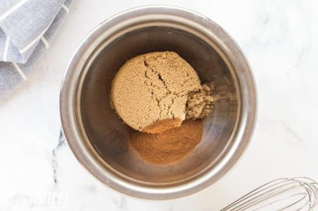 brown sugar and cinnamon in a bowl