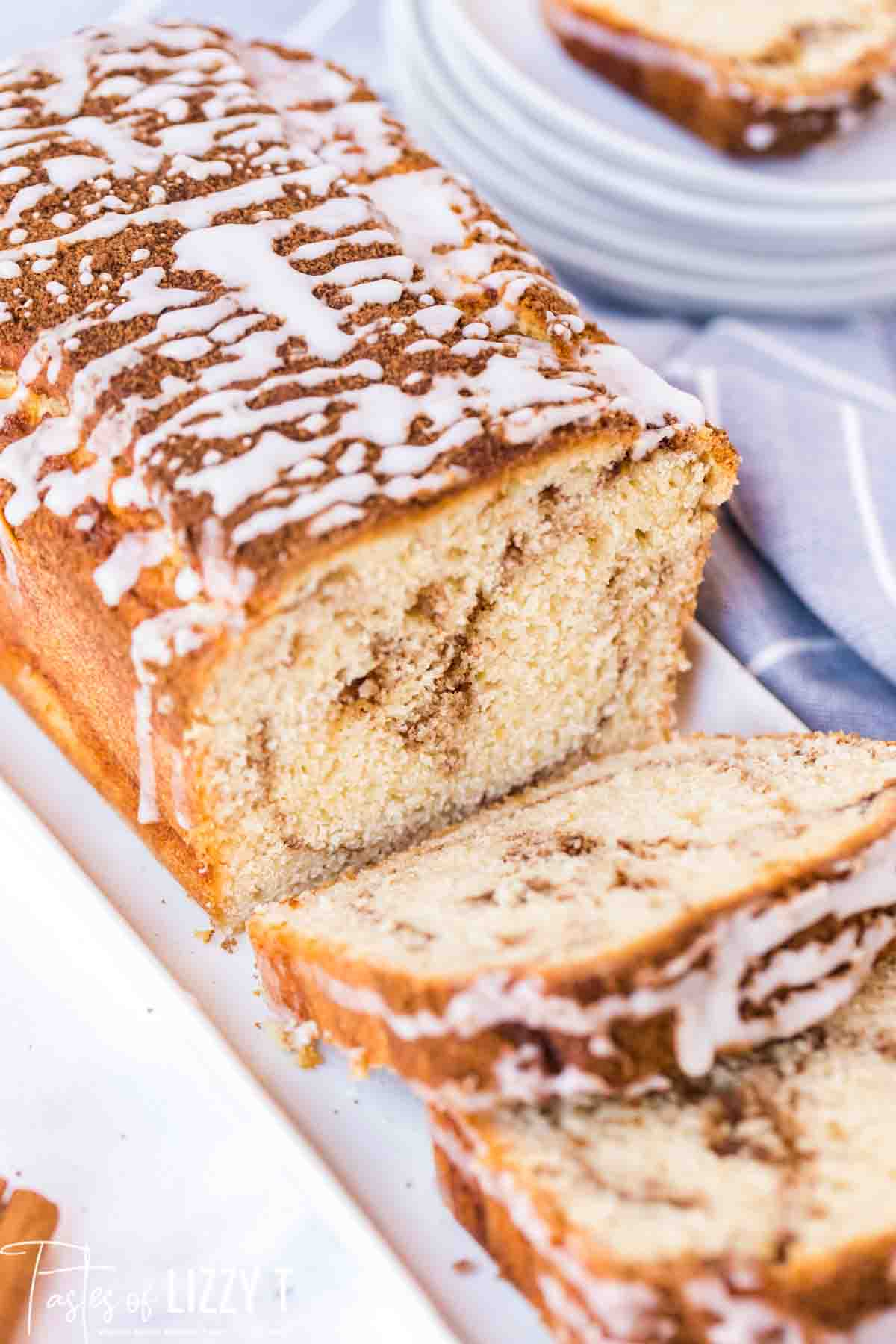 Cinnamon Roll Quick Bread Recipe Tastes Of Lizzy T