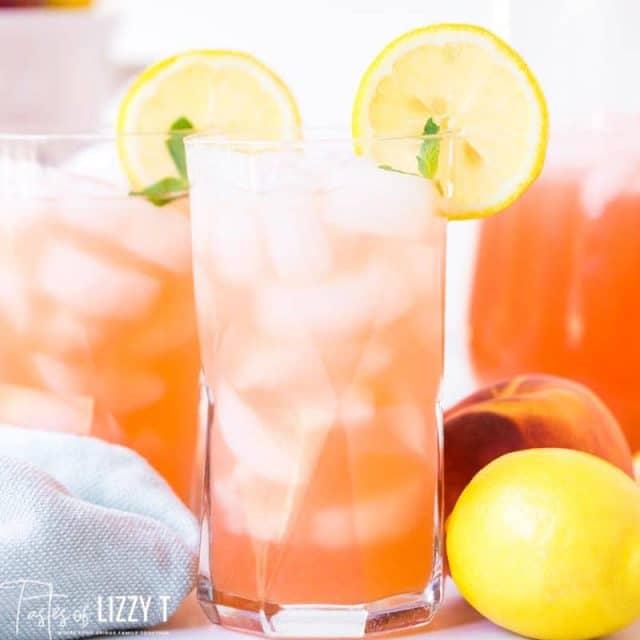 cup of peach lemonade