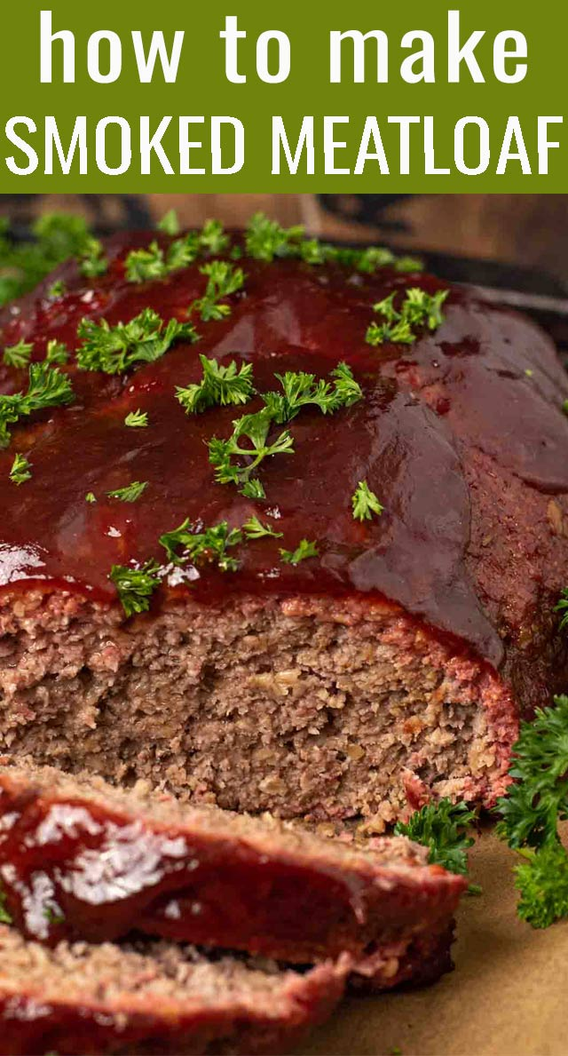 This easy smoked meatloaf with barbecue sauce glaze is a crowd pleaser! Tips for getting a perfectly smoked meatloaf, every time. via @tastesoflizzyt
