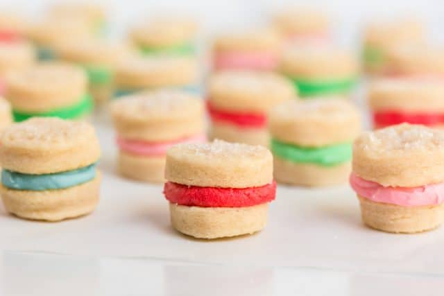 small sandwich cookies on a table