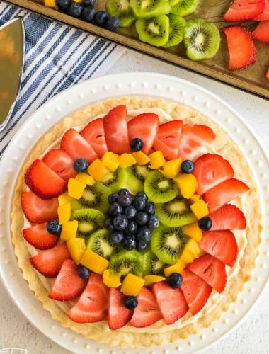 over head view of Fresh Fruit Tart