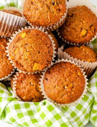 basket of morning glory muffins