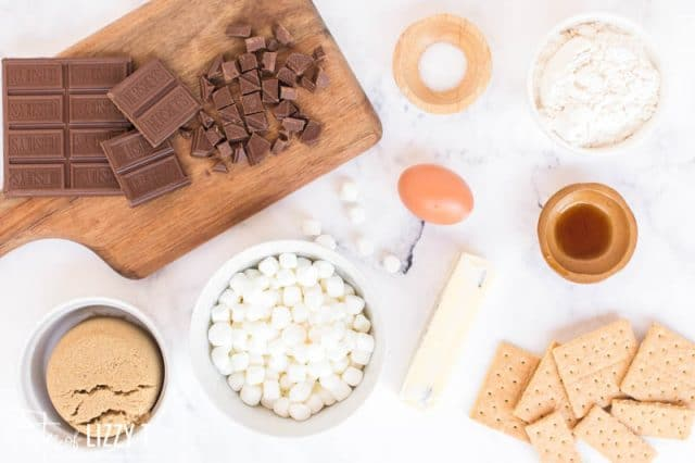 ingredients for S'mores Bars