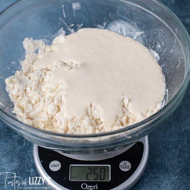 sourdough on flour