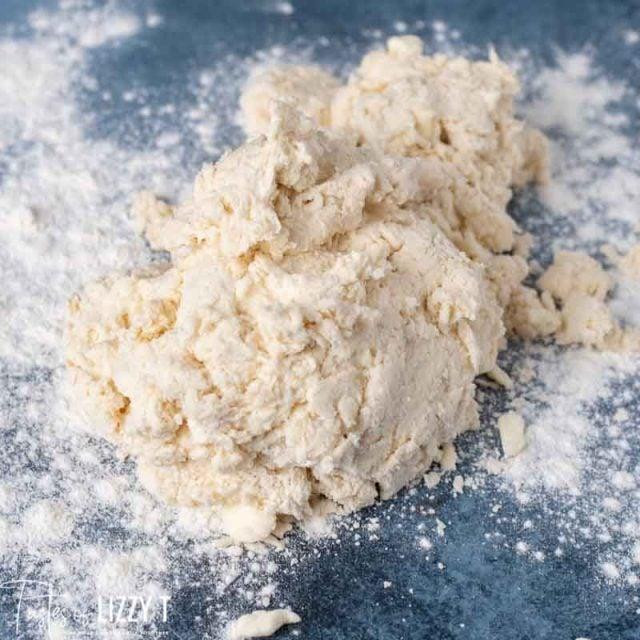 pile of sourdough biscuit dough