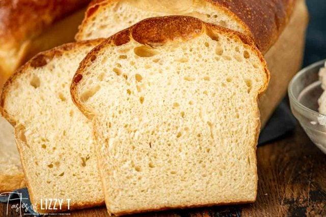 slices of white sourdough bread