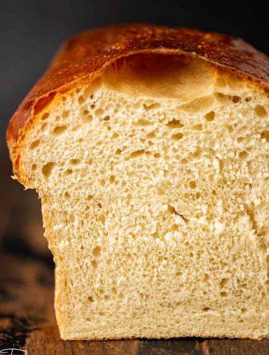 loaf of cut sourdough bread