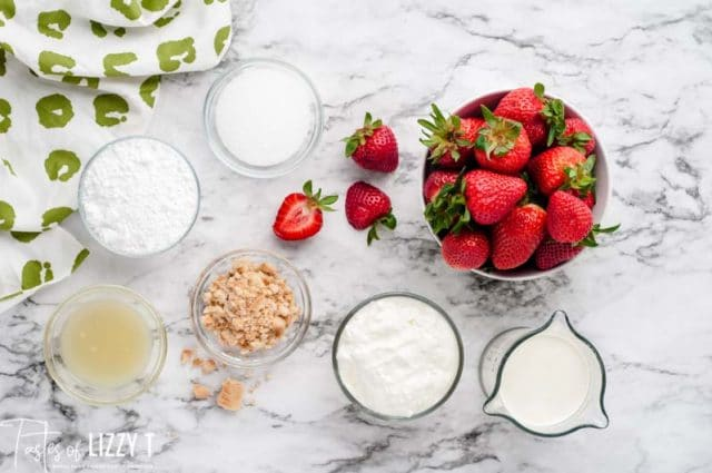 ingredients for strawberry fool