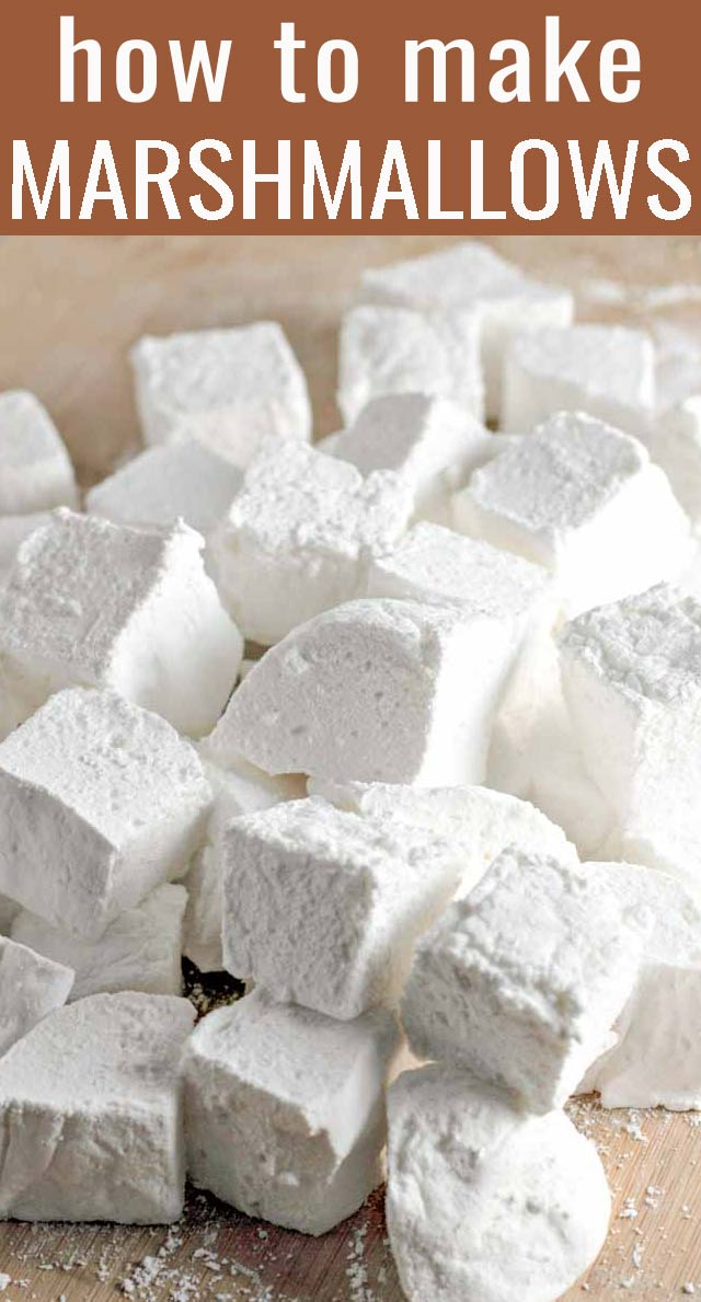 Healthy homemade marshmallows are soft, light, and airy guilt-free snacks to roast over a fire pit or to top a cup of hot chocolate with. via @tastesoflizzyt